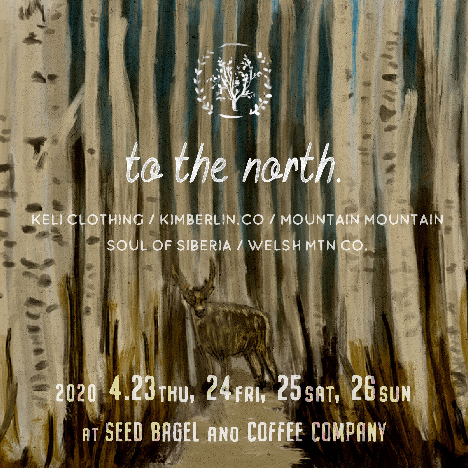 「to the north.」at  SEED BAGLE & COFFEE COMPANY