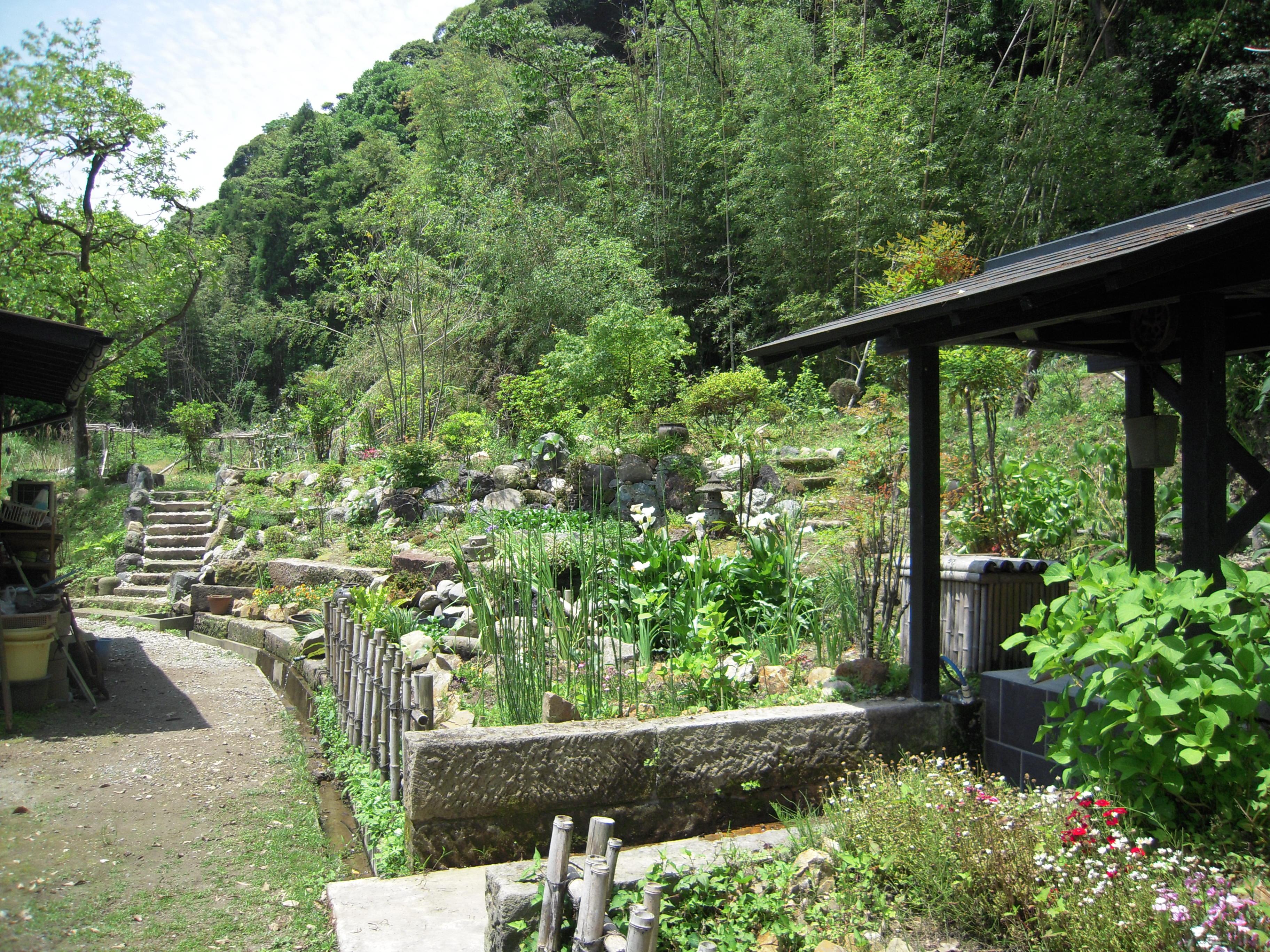 「多宝庵」の裏の庭園です。四季の花々が楽しめまする