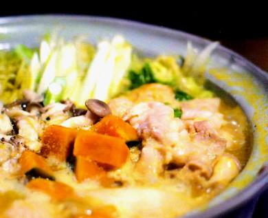 さつま亭の加世田のかぼちゃ鍋