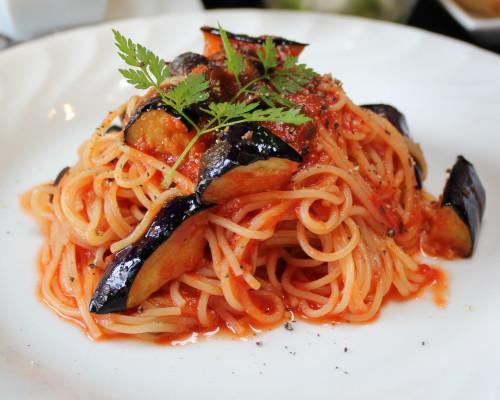 ランチ パスタ トマトと茄子のパスタ 単品 IMG_9086.jpg