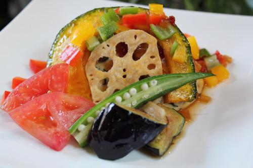 ランチ 豆腐ハンバーグ 夏野菜ソースIMG_2351.JPG