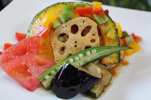 ランチ 豆腐ハンバーグ 夏野菜ソースIMG_2354.JPG
