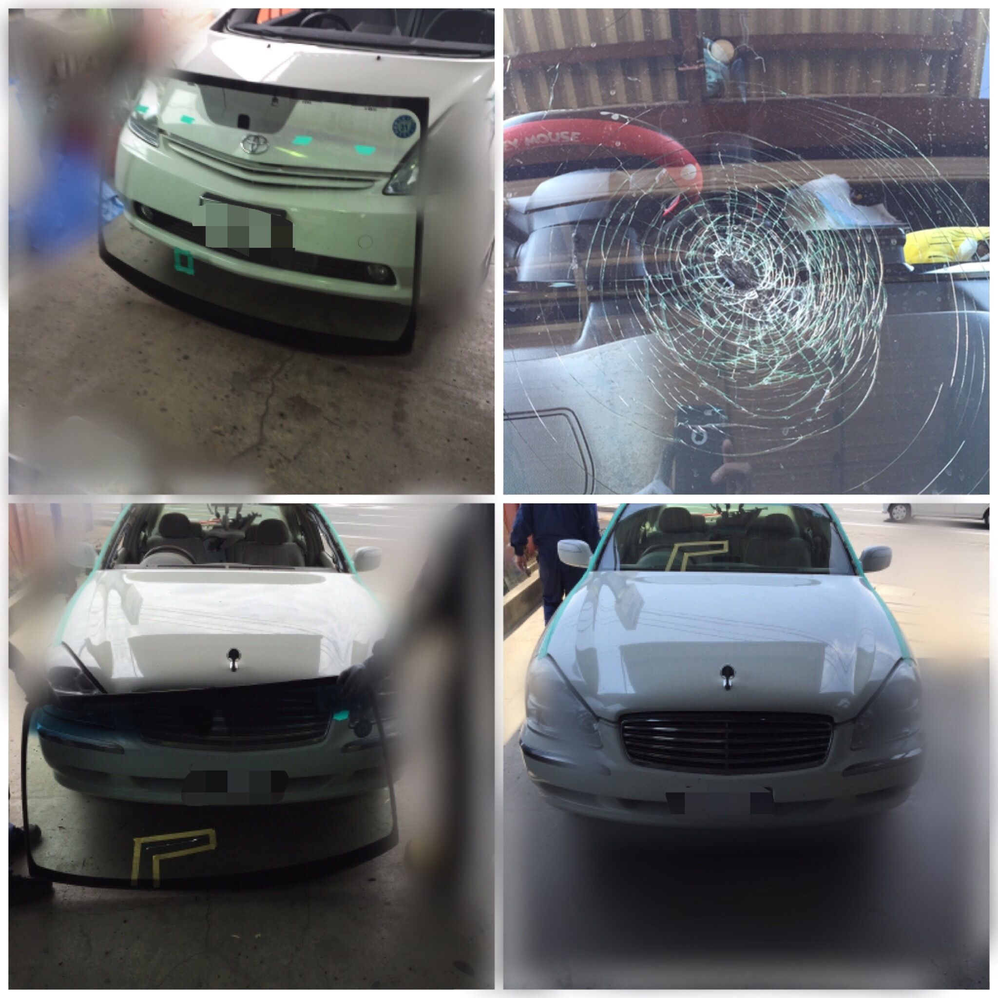 自動車ガラス交換の一例
