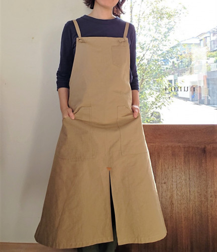 washed cotton work apron