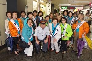 JR橋本駅駅長さんのご協力によりPR活動を実施
