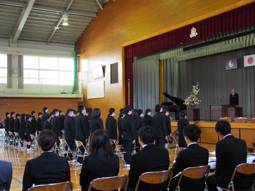 第72回大柿高校入学式(新入生40人)