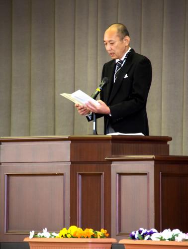 第72回大柿高校入学式(松岡浩樹校長式辞)