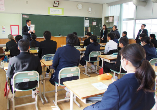 教室で事前指導