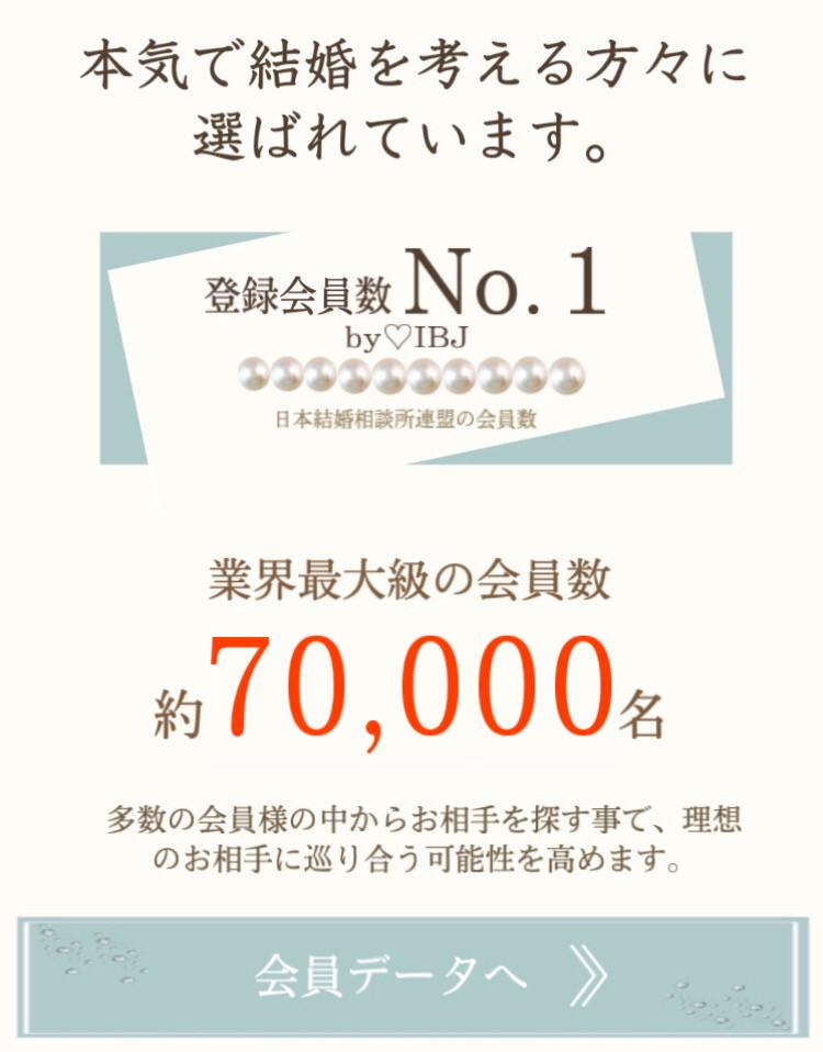 本気で結婚を考えている方々に選ばれています。登録会員数ナンバーワンBYIBJ 日本毛混相談所連盟 業界最代の会員数やウ68000人 多数の会員様の中からお相手を探すことで理想のお相手に巡り合う可能性を高めます。会員データへ