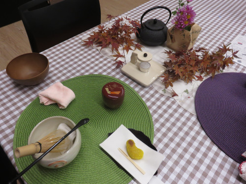 テーブル茶道とお香