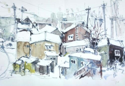 「五所川原雪景」33.5×49㎝.jpg
