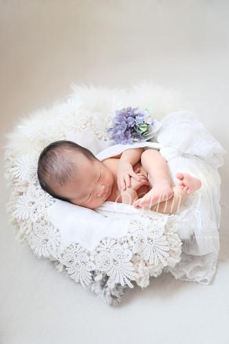 生後11日くんニューボーンフォト