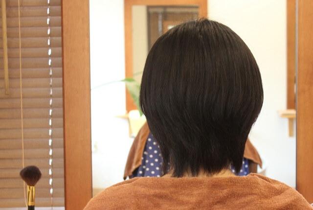 縮毛矯正ショートヘア