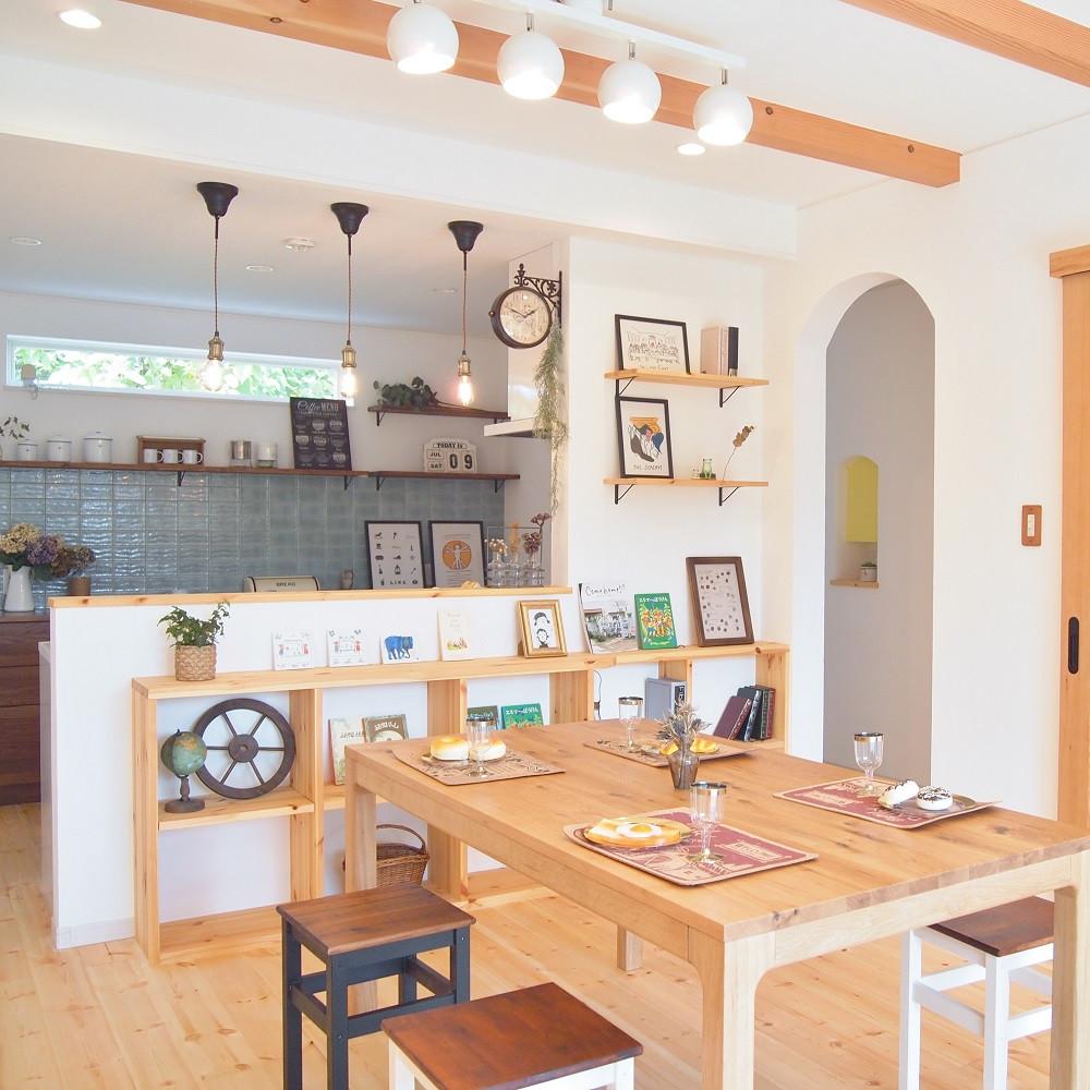 かわいい家の施工例写真 愛知県一宮市 河江工務店「こだわりを詰め込んだナチュラルな家」