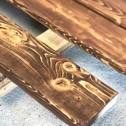 豊橋で平屋を建てるならカワヒラ かわいい平屋の楽しい家づくり「梁のエイジング」