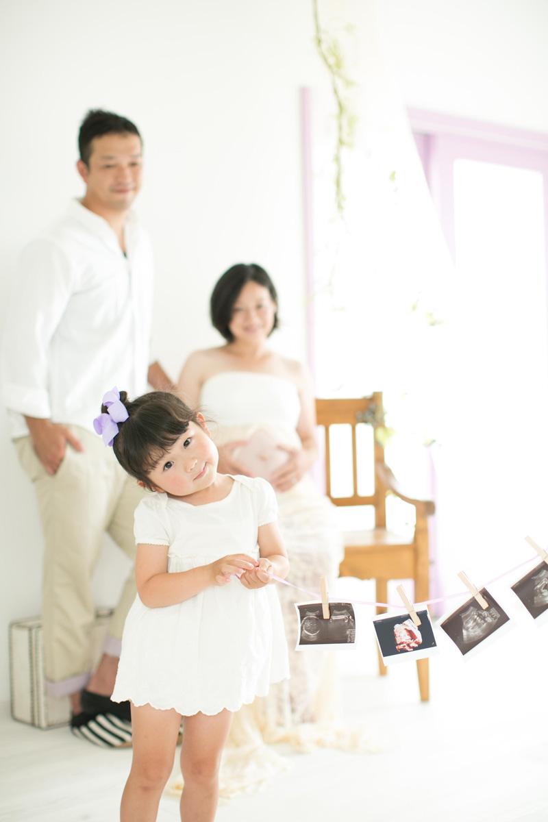 家族で撮影するマタニティPhoto