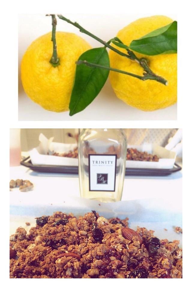 柚子のグラノーラ 青切りミカンの酵素