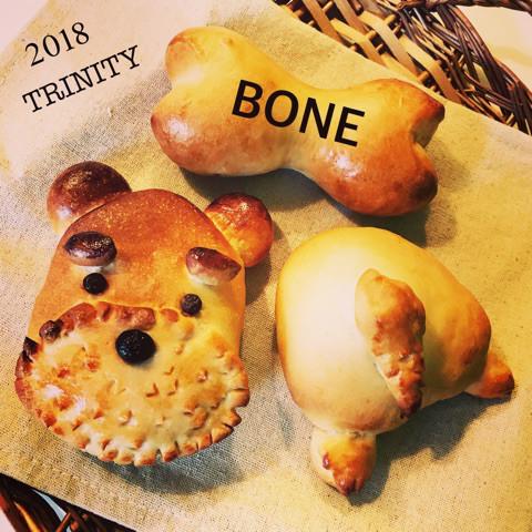 骨のソーセージパン 犬の塩バターパン