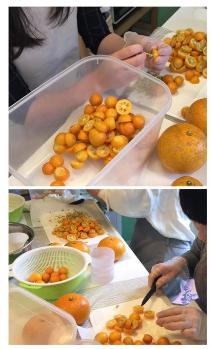 2月[2]無農薬 金柑と柑橘MIX酵素andいちごのレストを使ったスノーボールクッキーレッスン