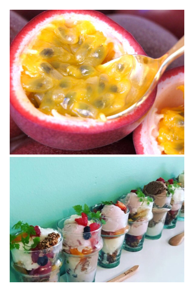 沖縄産 無農薬 パッションフルーツ パイナップル酵素 太らないヨーグルトパフェ作り
