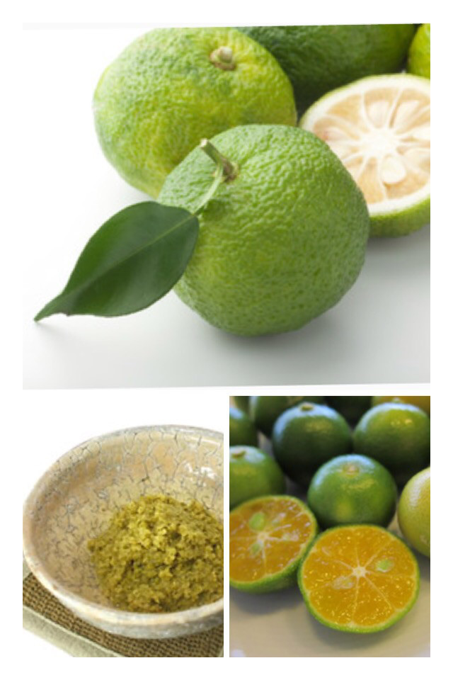 青柚子とシークワァーサーの酵素 青柚子胡椒作り