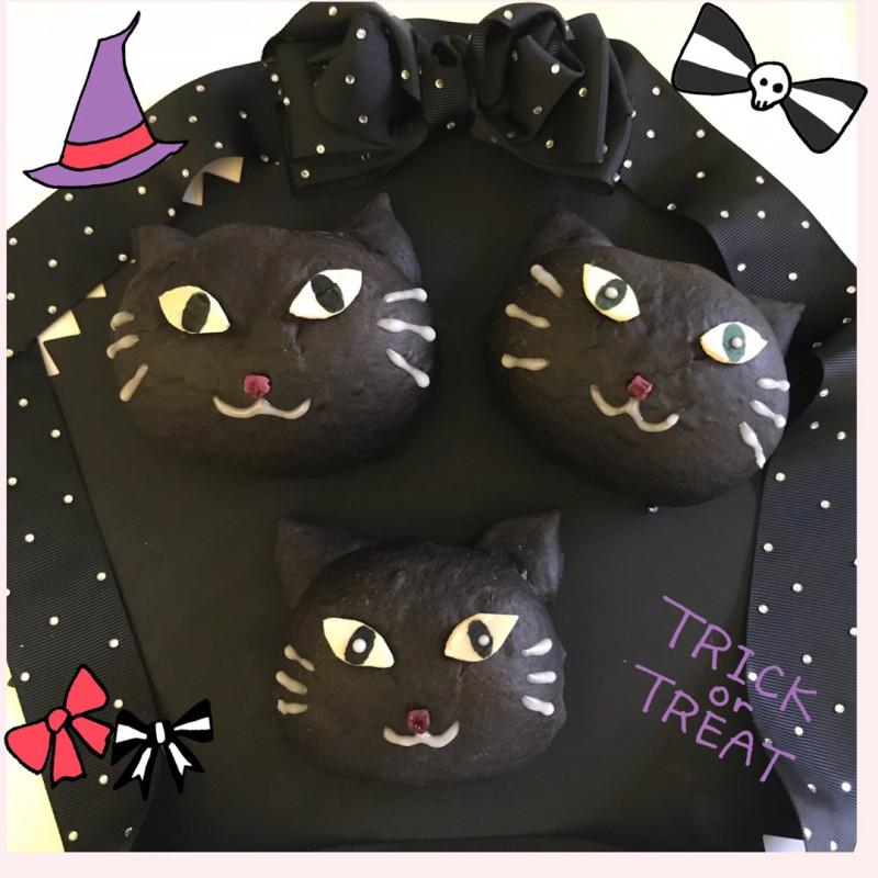 ハロウィン黒猫パン