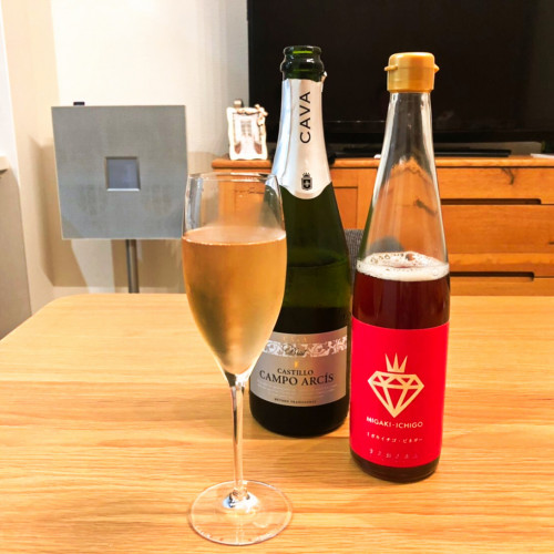 ミガキイチゴ・ビネガーレシピ『スパークリングワイン』h.jpg