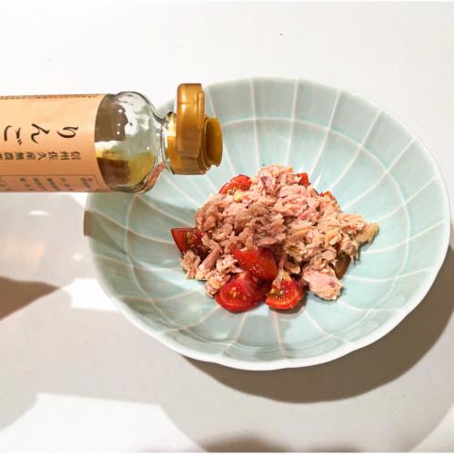 りんご甕酢レシピ『シーチキントマトサラダ』20200825-2h.jpg