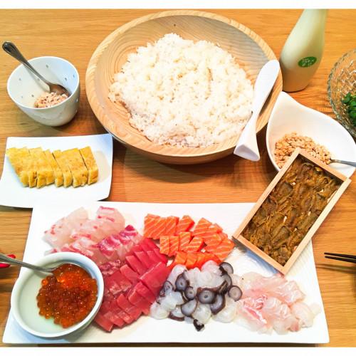 1年熟成甕酢・黒酢、鰹だし酢、美味だしぽんレシピ『みんな大好き手巻き寿司』h.jpg