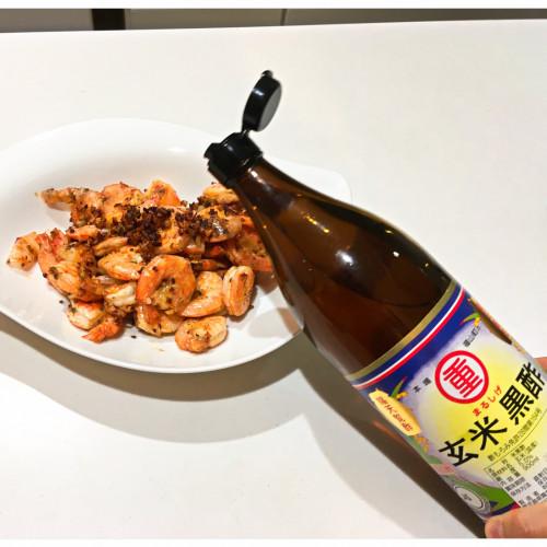 1年熟成甕酢・黒酢レシピ『ガーリックシュリンプ』20200830-3h.jpg