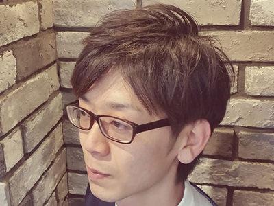 二俣川メンズ専門美容院バルビエーレスタイル | ミディアム6:4バングスタイル