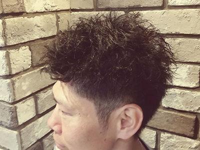 二俣川メンズ専門美容院バルビエーレスタイル | ピンパーマツーブロックスタイル