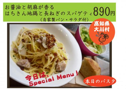 はちきん地鶏と長ねぎのスパゲティ.jpg
