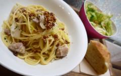●はちきん地鶏と長ねぎのスパゲティ.jpg