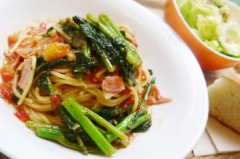 ●かき菜とアンチョビのトマトソーススパゲティS.jpg
