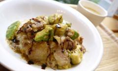●バルサミコ風味のアボカドと豚肉の味噌炒めDON.JPG