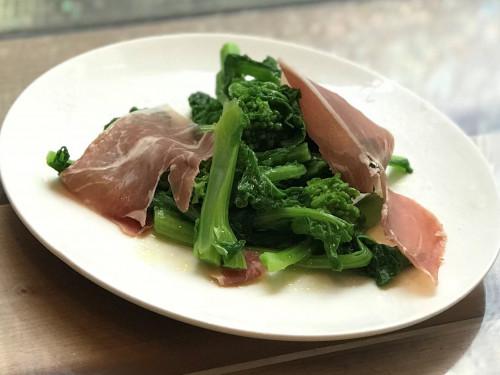 菜の花と生ハムのオリーブオイル風味サラダ.jpg