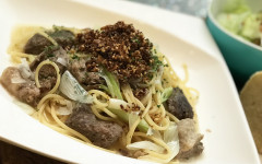 牛すじ肉と長ねぎのスパゲティ.jpg