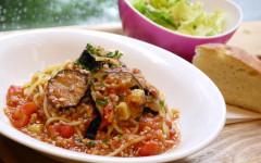 ●茄子と豚挽き肉のトマトソーススパゲティ.jpg