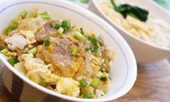 ●豚肉と卵の生姜焼きDON&うどん.JPG