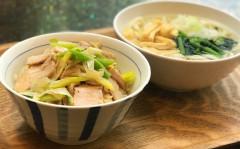 ●豚バラ肉の薄切りローストポークと長葱のオニオン醤油DON&うどん.jpg