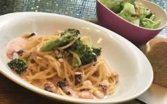 ●タコとブロッコリーの明太子クリームスパゲティ.jpg