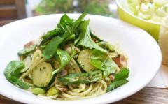 ●緑の夏野菜のジェノベーゼスパゲティ.jpg