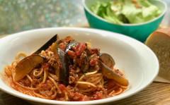 ●牛挽き肉と茄子のアラビアータスパゲティ.jpg