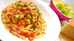●枝豆とベーコンのトマトチーズソーススパゲティ.jpg