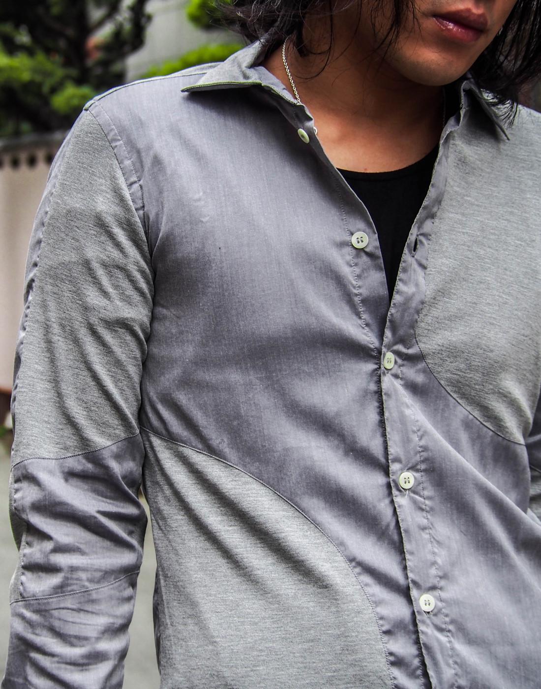 ストレッチグレーシャツとバイカーパンツ3.jpg