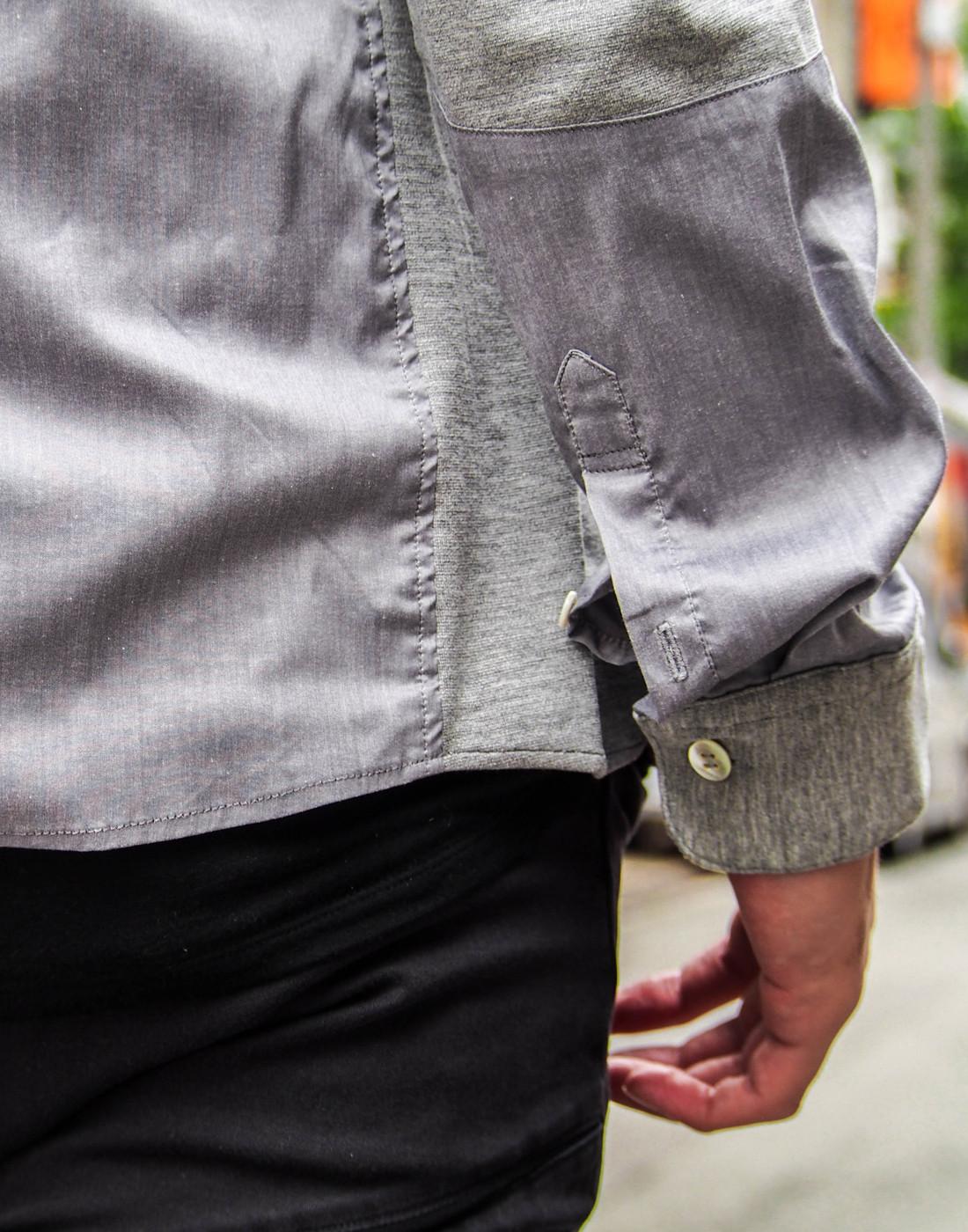 ストレッチグレーシャツとバイカーパンツ1.jpg