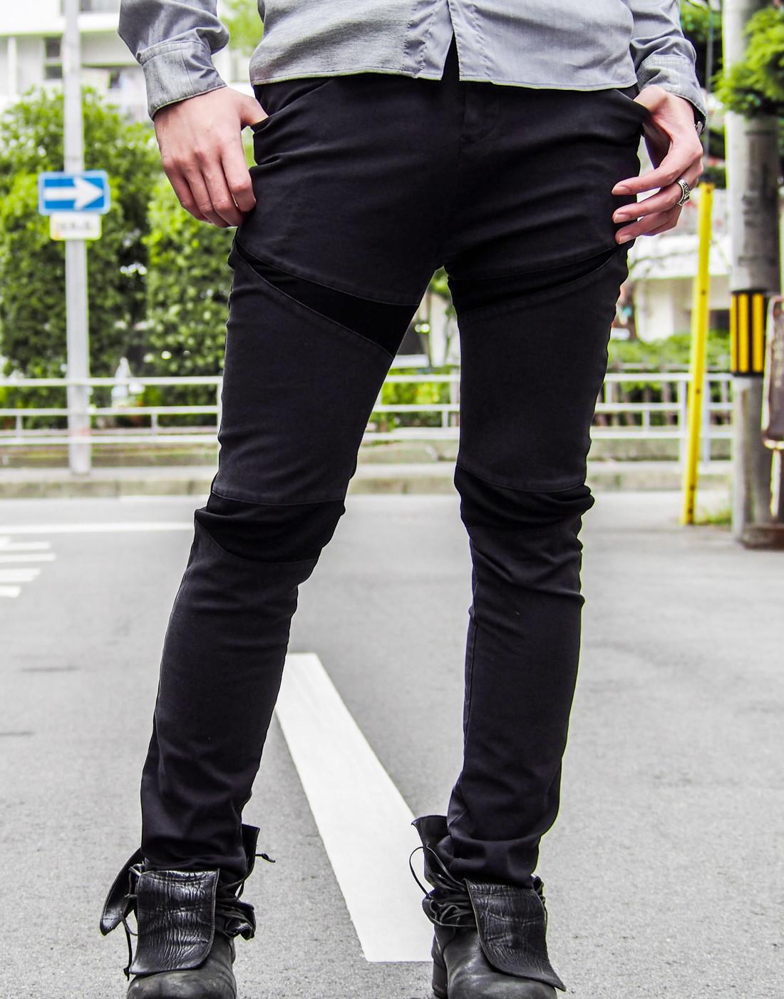 ストレッチグレーシャツとバイカーパンツ5.jpg