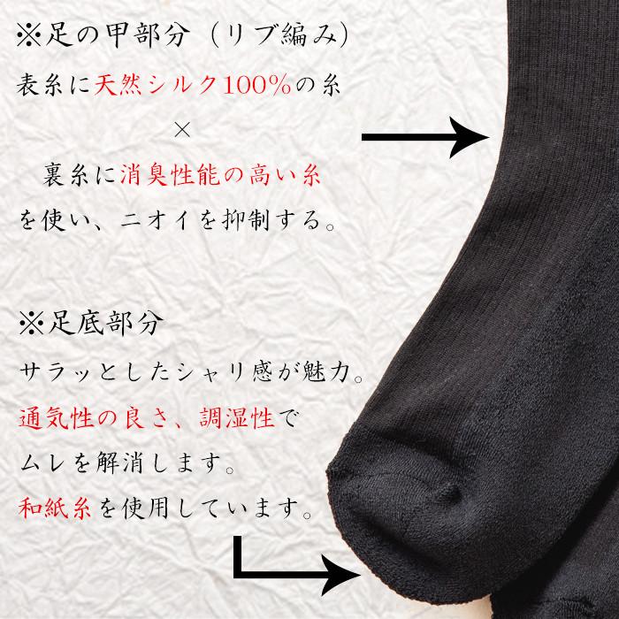 和紙シルクディオドライズクルーソックス2.jpg