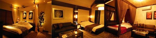 休憩から宿泊までご利用いただける岐阜県高山市のラブホテル。アジアンテイストのおしゃれな内装で寛ぎの時間を。